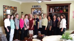 These sweet readers from San Elijo Hills invited me to a lovely lunch. Two book clubs gathered together in one house to chat about two of my books, Great idea!